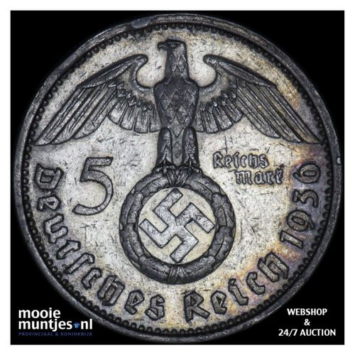 5 reichsmark - Germany-Third Reich 1936 A (KM 94) (kant A)