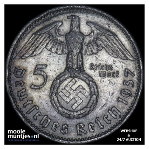 5 reichsmark - Germany-Third Reich 1937 A (KM 94) (kant A)