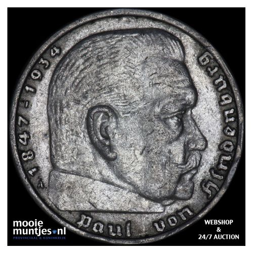 5 reichsmark - Germany-Third Reich 1937 A (KM 94) (kant B)
