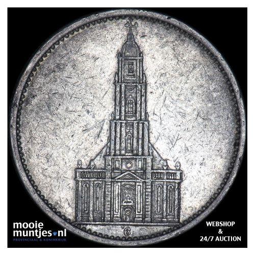 5 reichsmark - Germany-Third Reich 1934 G (KM 83) (kant B)