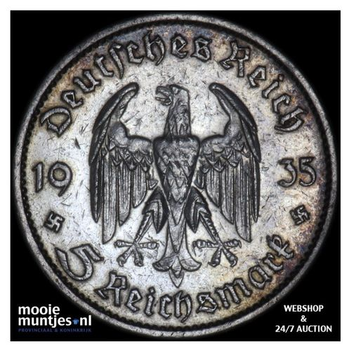 5 reichsmark - Germany-Third Reich 1935 G (KM 83) (kant A)