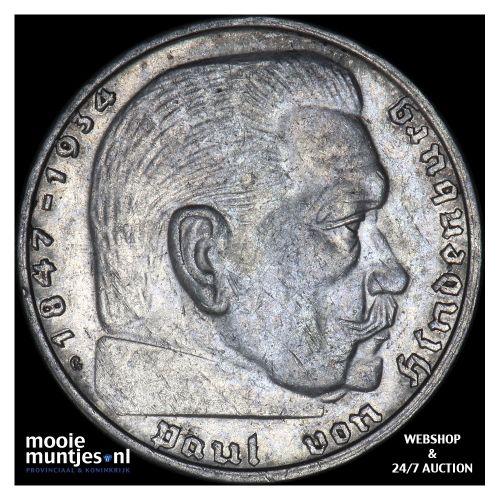 2 reichsmark - Germany-Third Reich 1939 G (KM 93) (kant B)