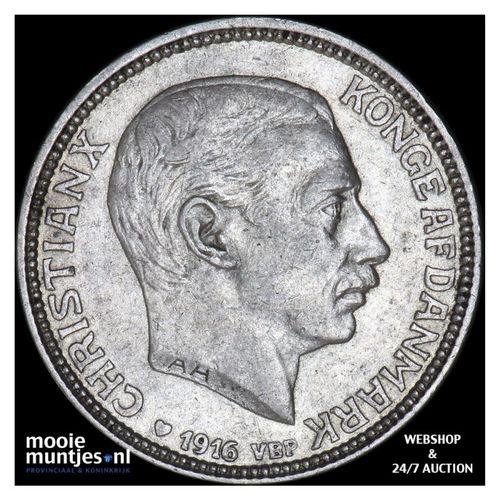 2 kroner - Denmark 1916 (KM 820) (kant A)
