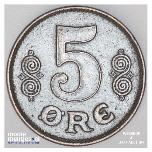 5 ore - Denmark 1919 (KM 814.2) (kant B)