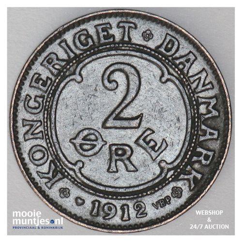 2 ore - Denmark 1912 (KM 805) (kant A)