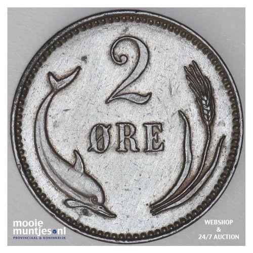 2 ore - Denmark 1906 (KM 793.2) (kant B)