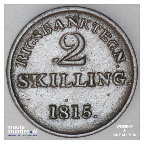 2 skilling (token coinage) - Denmark 1815 (KM Tn4) (kant A)