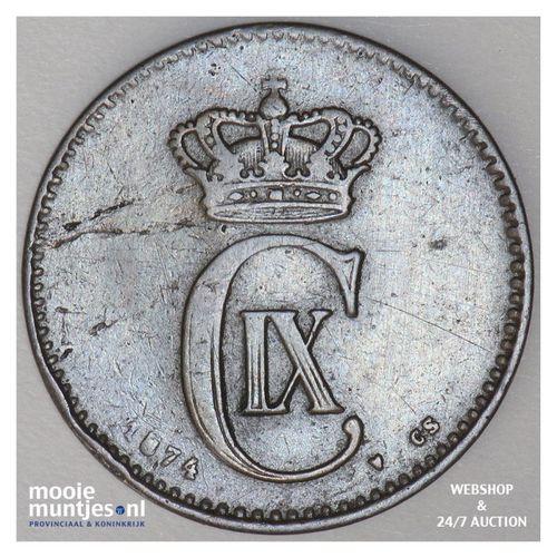 2 ore - Denmark 1874 (KM 793.1) (kant A)