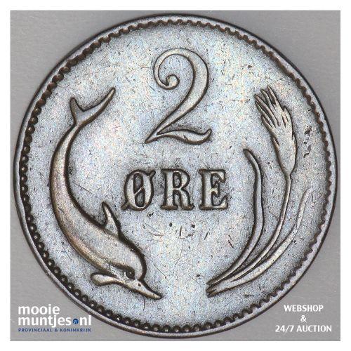 2 ore - Denmark 1874 (KM 793.1) (kant B)