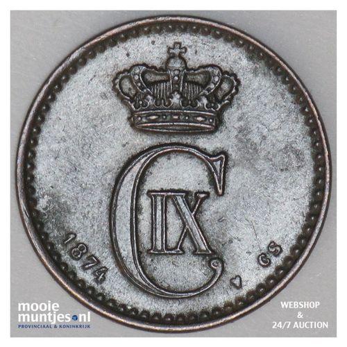 ore - Denmark 1874 (KM 792.1) (kant A)