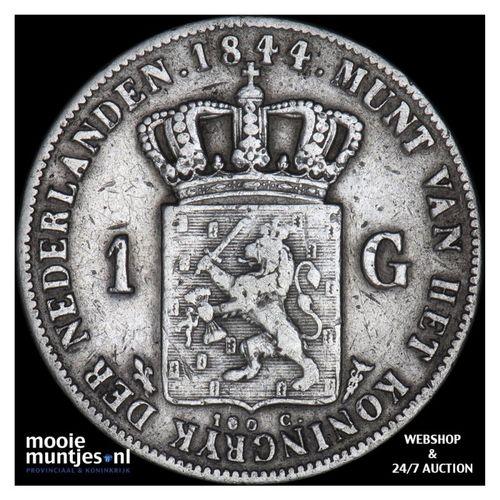 1 gulden - Willem II - 1844 (kant A)
