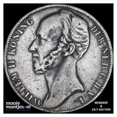 1 gulden - Willem II - 1844 (kant B)