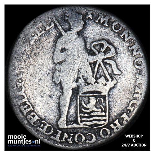 Zeeland - Achtste dukaat of Pietje - 1782 (kant B)