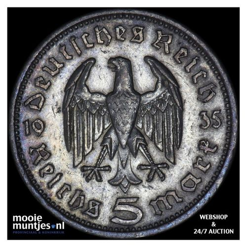 5 reichsmark - Germany-Third Reich 1935 A (KM 86) (kant A)