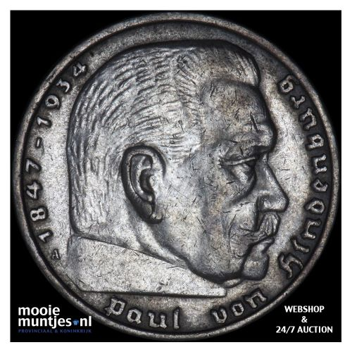 5 reichsmark - Germany-Third Reich 1935 A (KM 86) (kant B)