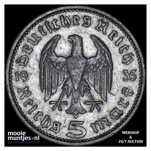 5 reichsmark - Germany-Third Reich 1935 J (KM 86) (kant A)