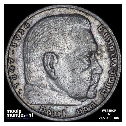 5 reichsmark - Germany-Third Reich 1935 J (KM 86) (kant B)