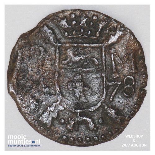 Roermond - Achtste stuiver of duit van 6 mijten - 1678 (kant A)
