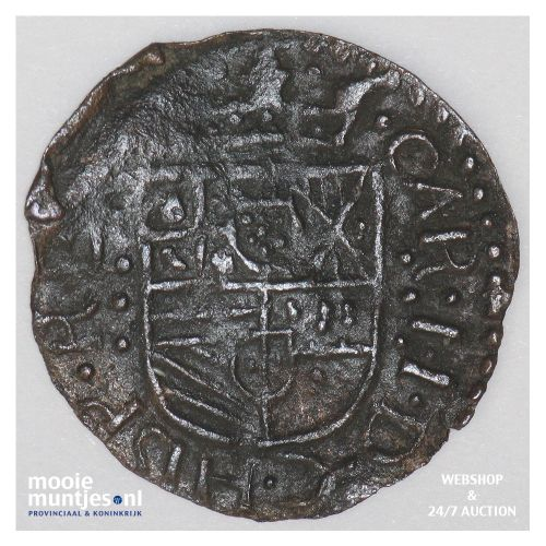 Roermond - Achtste stuiver of duit van 6 mijten - 1678 (kant B)