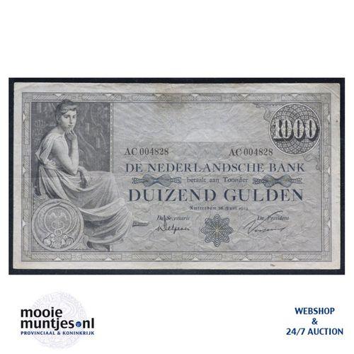 1000 gulden  - 1919 (Mev. 151-1b / AV 106) (kant A)