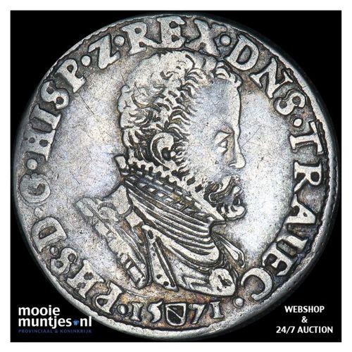 Utrecht - Vijfde Philipsdaalder - 1571 (kant A)