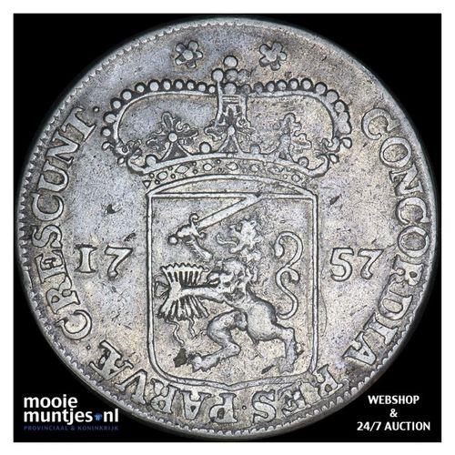 Zeeland - Zilveren dukaat - 1757 MPO roosrand (kant A)