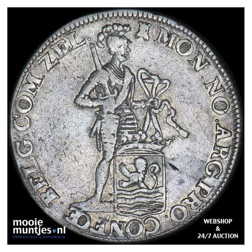 Zeeland - Zilveren dukaat - 1757 MPO roosrand (kant B)