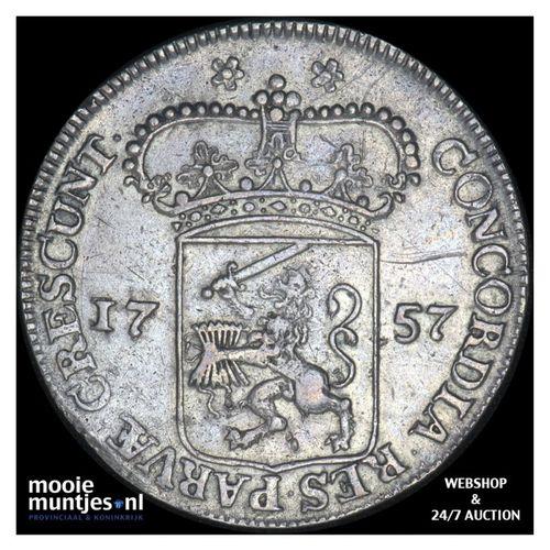 Zeeland - Zilveren dukaat - 1757 kabelrand (kant A)