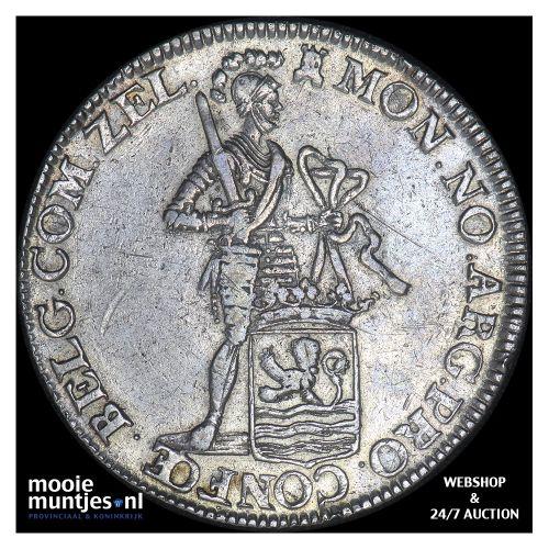 Zeeland - Zilveren dukaat - 1757 kabelrand (kant B)