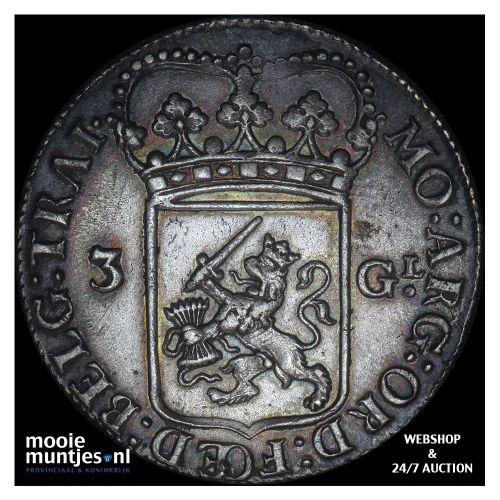 Utrecht - 3 gulden - 1795 (kant B)