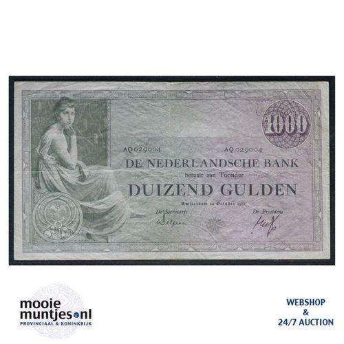 1000 gulden  - 1926 (Mev. 152-2 / AV 106A) (kant A)