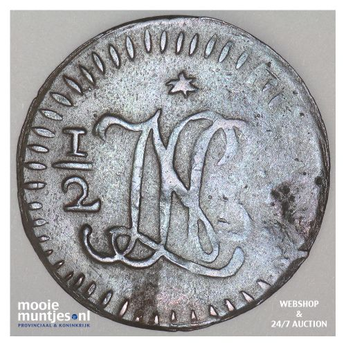 Nederlands-Indië - ½ Stuiver  - 1811 (kant B)