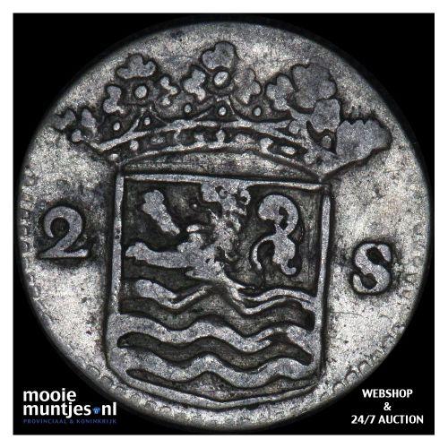 Zeeland - Dubbele wapenstuiver - 1731 (kant B)