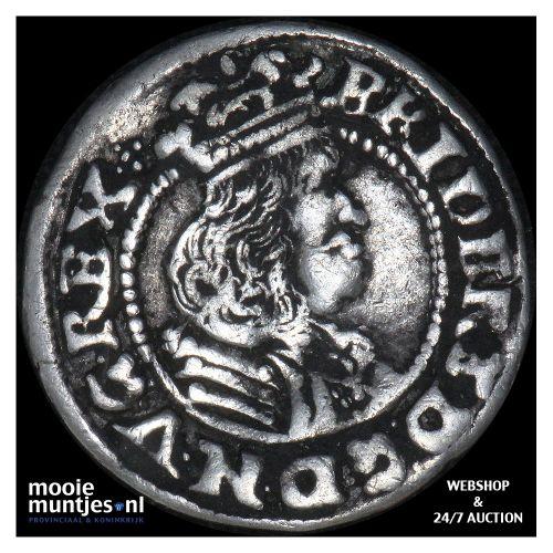 1/16 speciedaler (3 skilling lybsk) - Denmark 1667 (KM 54.1) (kant B)