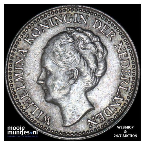 ½ gulden - Wilhelmina - 1922 (kant B)