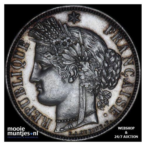 5 francs - France 1851 A (Paris) (KM 761.1) (kant B)