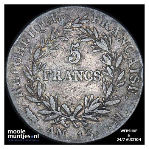 5 francs - France AN 13 M (Toulouse) (KM 662.10) (kant A)