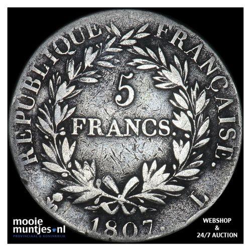 5 francs - France 1807 L (Bayonne) (KM 662.10) (kant A)