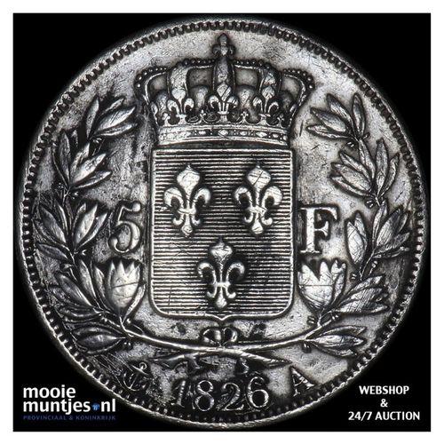 5 francs - France 1826 A (Paris) (KM 720.1) (kant A)