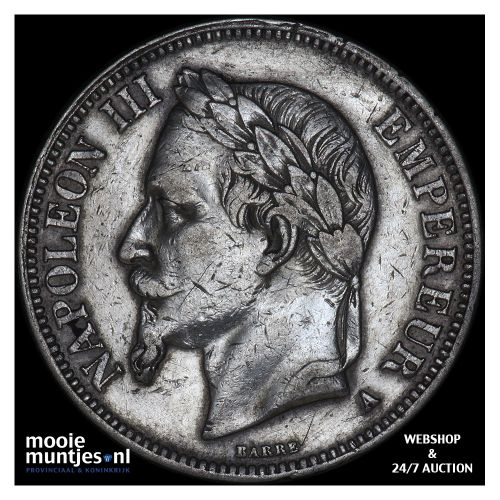 5 francs - France 1868 A (Paris) (KM 799.1) (kant B)