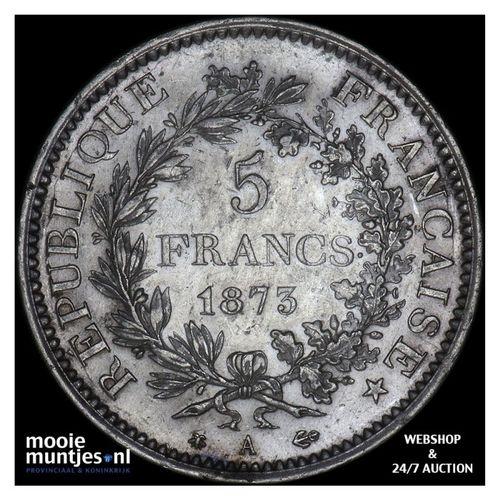 5 francs - France 1873 A (Paris) (KM 820.1) (kant A)