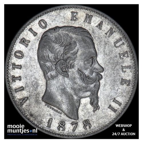 5 lire - Italy 1878 (KM 8.4) (kant A)