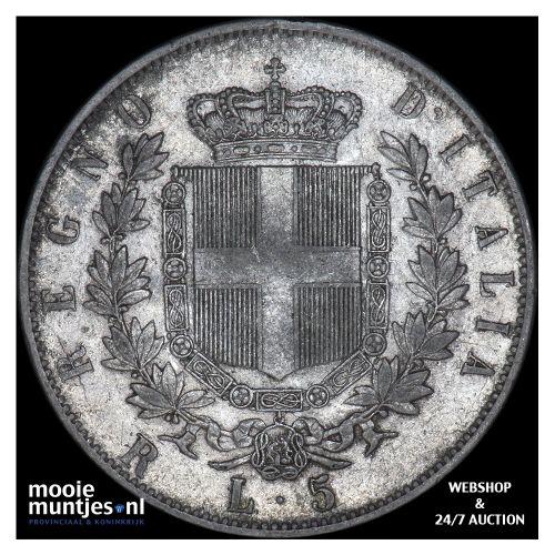 5 lire - Italy 1878 (KM 8.4) (kant B)