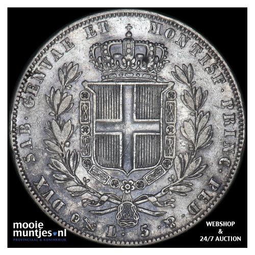 5 lire - mainland reform coinage - Italian States/Sardinia 1840 (KM 130.2) (kant