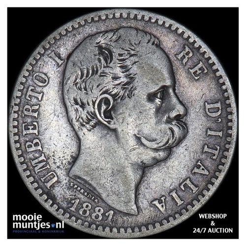 2 lire - Italy 1881 (KM 23) (kant A)
