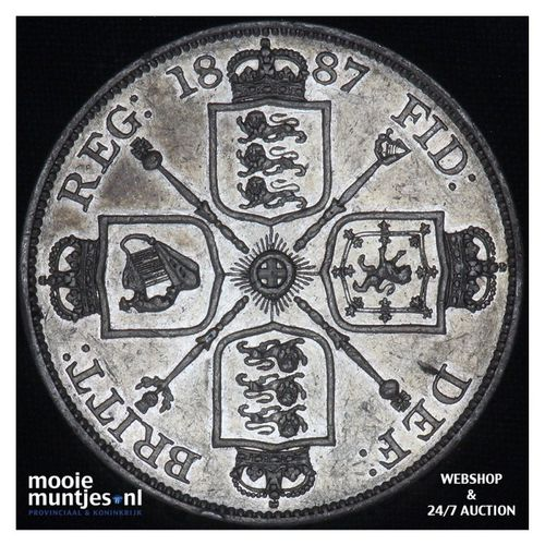 double florin - Great Britain 1887 (KM 763) (kant A)