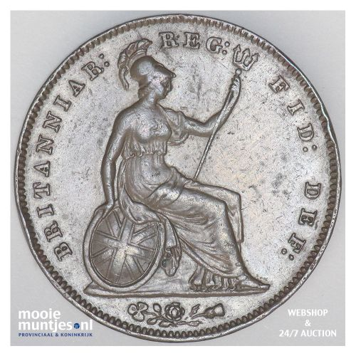 penny - Great Britain 1855 (KM 739) (kant B)