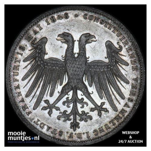 2 gulden - German States/Frankfurt am Main 1848 (KM 338) (kant A)