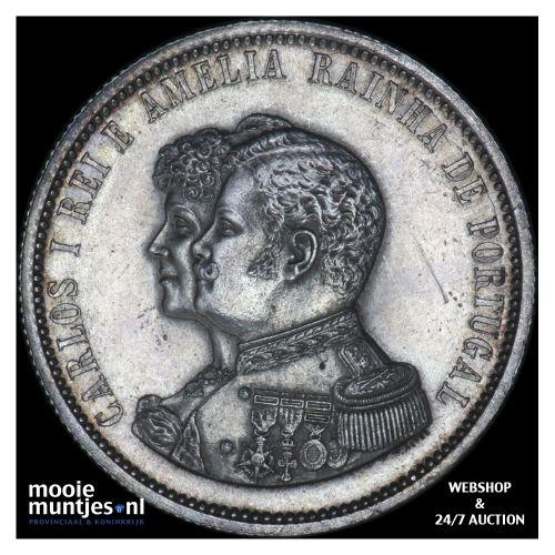 1000 reis - Portugal 1898 (KM 539) (kant B)