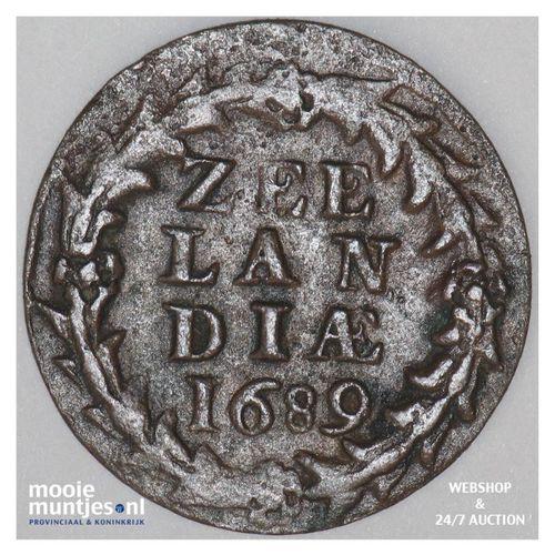Zeeland - Duit - 1689 (kant A)